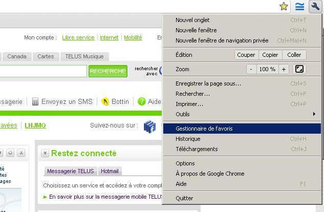Signets Chrome